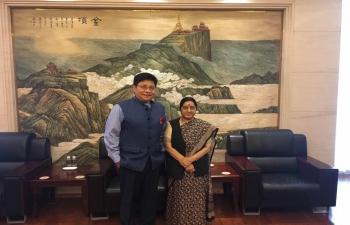 Transit visit of Hon'ble EAM to Chengdu on 4-5 September, 2017