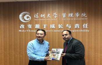 Meeting with Dean of Shenzhen University Management School on 22 Nov 2018