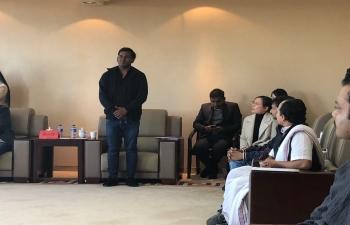 Visit of C'dA Dr Acquino Vimal to Yunnan Minzu University, Kunming on 02 Dec 2018