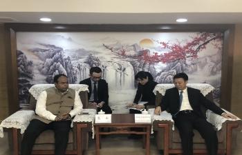 CG  met with Mr Jiang Liansheng, Director General, Department of Commerce, Guangxi Zhuang Autonomous Region on 11 March 2019 in Nanning
