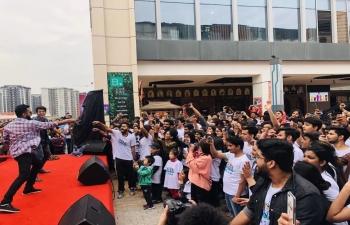 Holi celebrations at Chengdu, Sichuan Province under jurisdiction of CGI, Guangzhou