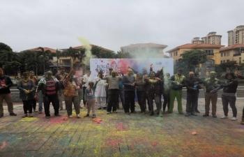 Holi celebrations at Lecong, Foshan under jurisdiction of CGI, Guangzhou