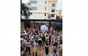 Holi celebrations at Shenzhen, Guangdong Province under jurisdiction of CGI, Guangzhou