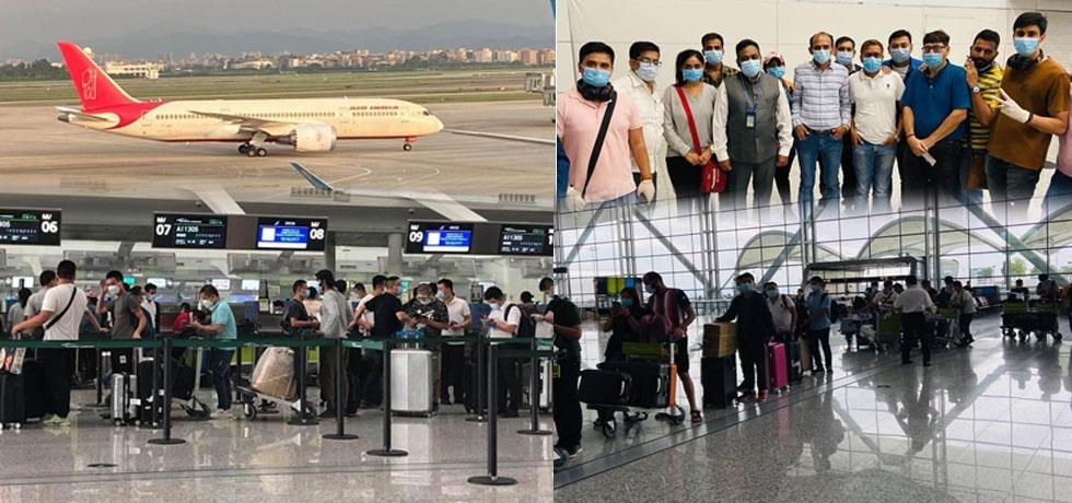 VBM Flight from Guangzhou to Delhi on 24th September, 2020